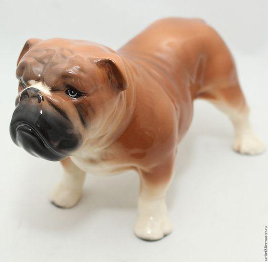 Винтажные предметы интерьера. Ярмарка Мастеров - ручная работа. Купить КРАСАВЕЦ! Английский бульдог собака Англ РЕДКИЙ! 6. Handmade.