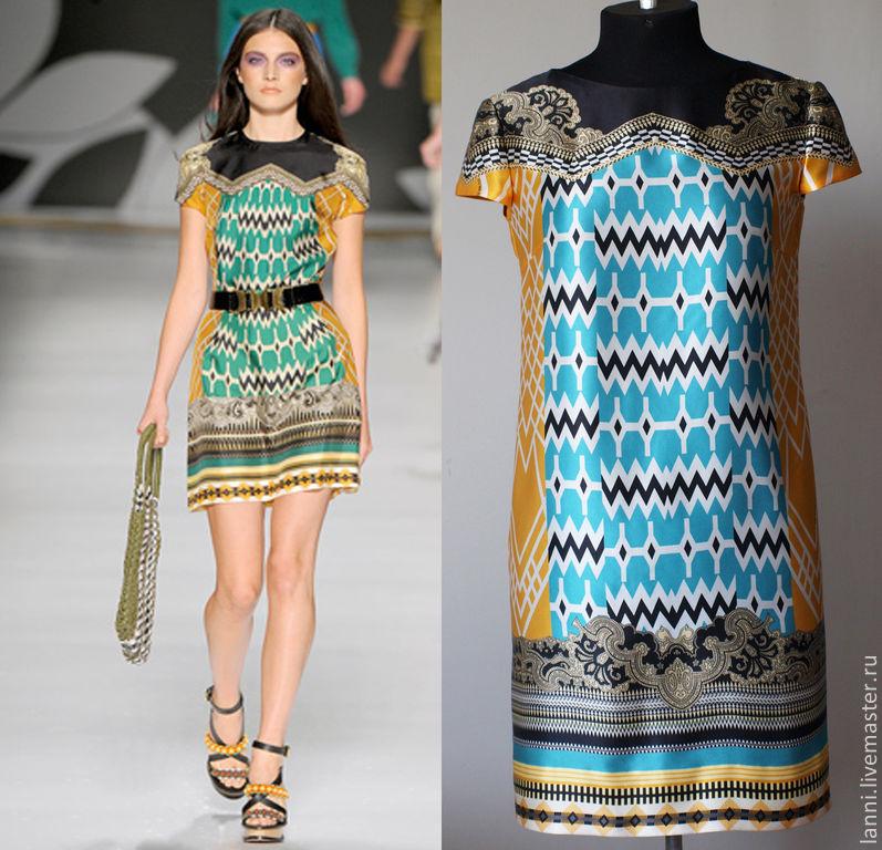 Платья с подиума шелковые