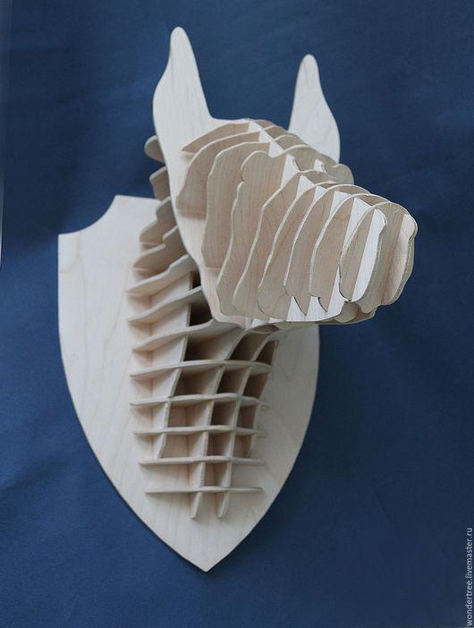 Элементы интерьера ручной работы. Ярмарка Мастеров - ручная работа. Купить Голова волка. Handmade. Бежевый, животные, для дачи, подарок