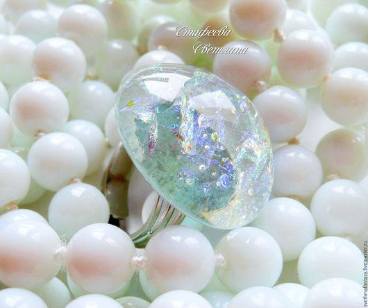 """Кольца ручной работы. Ярмарка Мастеров - ручная работа. Купить """"My pearl"""" кольцо из стекла, фьюзинг. Handmade. Фьюзинг украшения"""