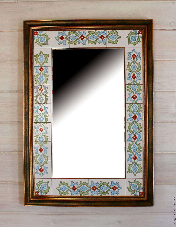 Painting ceramics. Large mirror 'Blue nights of the Bosphorus', Mirror, Kaluga,  Фото №1