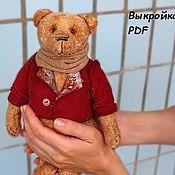 Материалы для творчества ручной работы. Ярмарка Мастеров - ручная работа Выкройка медведя Эркюля + пиджак. Handmade.