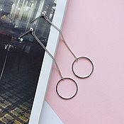Украшения ручной работы. Ярмарка Мастеров - ручная работа Серьги в стиле минимализм. Handmade.