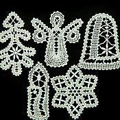 Подарки к праздникам handmade. Livemaster - original item Openwork 2. A set of Christmas ornaments. Handmade.