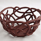 Посуда handmade. Livemaster - original item Sweets bowls White, milk and dark chocolate. Handmade.