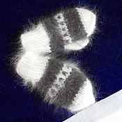Работы для детей, ручной работы. Ярмарка Мастеров - ручная работа 344, Варежки пуховые  кроличий пух. Handmade.