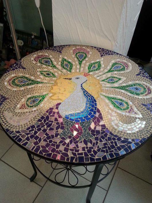 Мебель ручной работы. Ярмарка Мастеров - ручная работа. Купить Столик журнальный Мозаика. Handmade. Столик для завтрака, столик из мозаики
