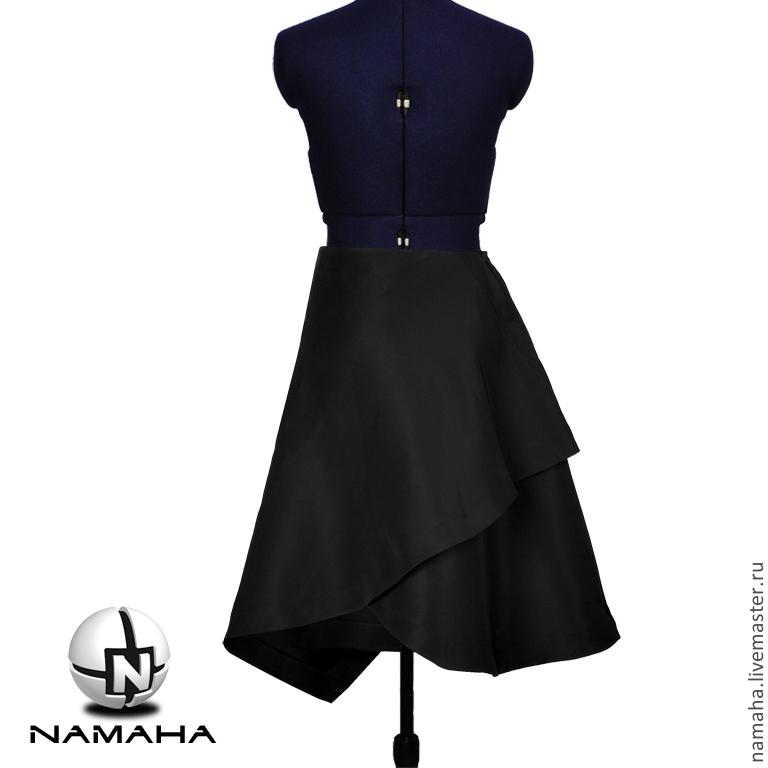 Асимметричная юбка черная