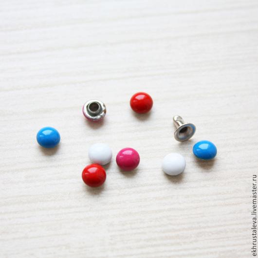Шитье ручной работы. Ярмарка Мастеров - ручная работа. Купить Цветные круглые хольнитены, 5 мм. Handmade. Заготовка для творчества