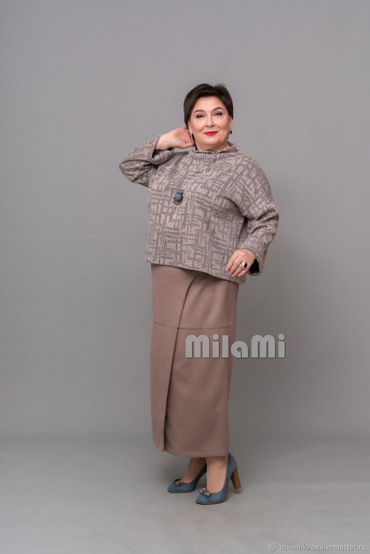 Art. .4722 Capito jumper knitted jacquard beige-black, Jumpers, Kirov,  Фото №1