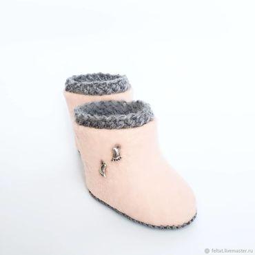 """Обувь ручной работы. Ярмарка Мастеров - ручная работа Валяные пинетки""""Топ-топ"""". Handmade."""