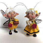 Куклы и игрушки ручной работы. Ярмарка Мастеров - ручная работа Пчёлки. Handmade.