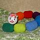"""Развивающие игрушки ручной работы. Ярмарка Мастеров - ручная работа. Купить Игрушка-погремушка """"Гусеница"""". Handmade. Разноцветный радужный, синий"""