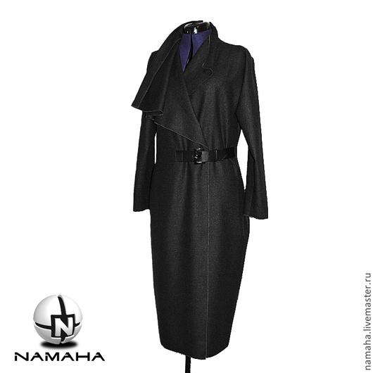 Верхняя одежда ручной работы. Ярмарка Мастеров - ручная работа. Купить Пальто демисезонное из шерсти, женское пальто асимметричное. Handmade.
