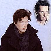 """Куклы и игрушки ручной работы. Ярмарка Мастеров - ручная работа """"И снова Шерлок""""портретная кукла. Handmade."""