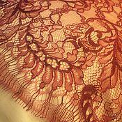 Одежда ручной работы. Ярмарка Мастеров - ручная работа Кружево Бордо ткань. Handmade.