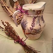 Посуда handmade. Livemaster - original item Jug with handle