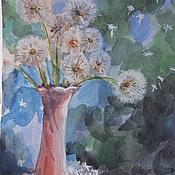 """Картины и панно ручной работы. Ярмарка Мастеров - ручная работа Картина акварелью """"Пушистый букетик"""". Handmade."""