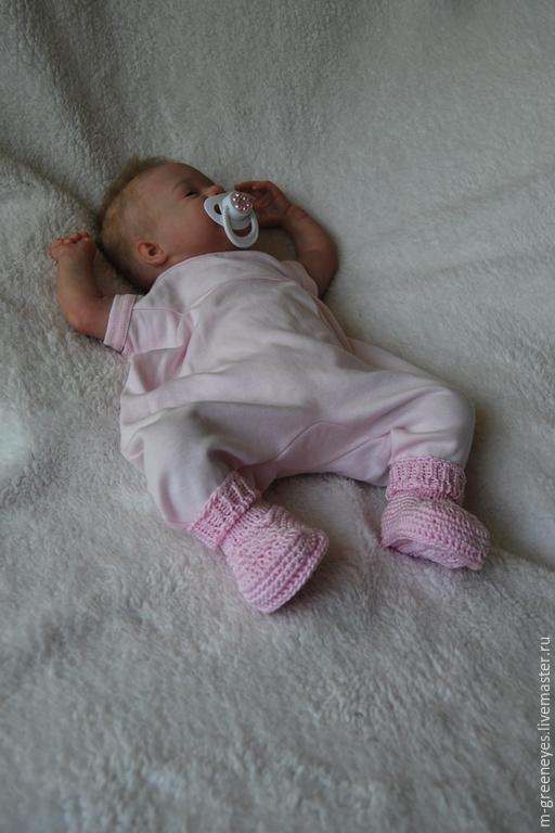 """Для новорожденных, ручной работы. Ярмарка Мастеров - ручная работа. Купить Пинетки """"Розовое счастье"""". Handmade. Розовый, пинетки для малыша"""