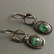 Украшения handmade. Livemaster - original item Silver earrings with blue tourmalines. Handmade.
