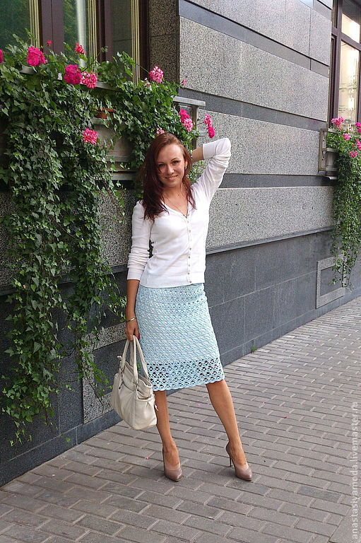 Юбки ручной работы. Ярмарка Мастеров - ручная работа. Купить В городе N.(Белые ночи). Вязаная юбка. Handmade.