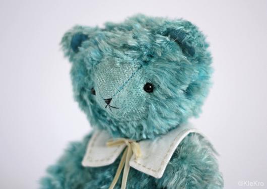 Мишки Тедди ручной работы. Ярмарка Мастеров - ручная работа. Купить Мишка Морской бриз. Handmade. Бирюзовый, медведь тедди. Клетчатый Крокодил.