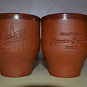 Для дома и интерьера ручной работы. Ярмарка Мастеров - ручная работа стаканы глина для глинтвейна. Handmade.
