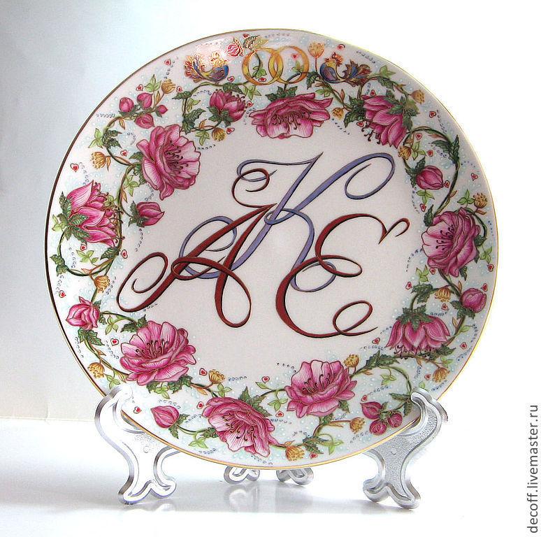 Тарелка подарок на свадьбу
