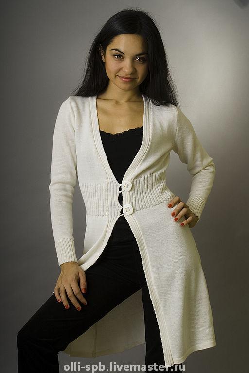 Пиджаки, жакеты ручной работы. Ярмарка Мастеров - ручная работа. Купить Кардиган 0242. Handmade. Кардиган вязаный, женская одежда