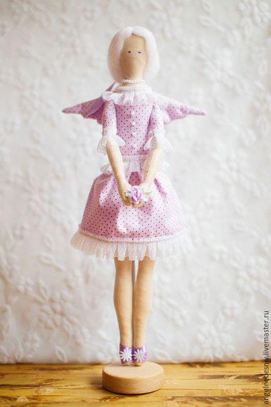 Куклы Тильды ручной работы. Ярмарка Мастеров - ручная работа. Купить Сиреневый ангел. Handmade. Сиреневый, нежность, наполнитель синтепон