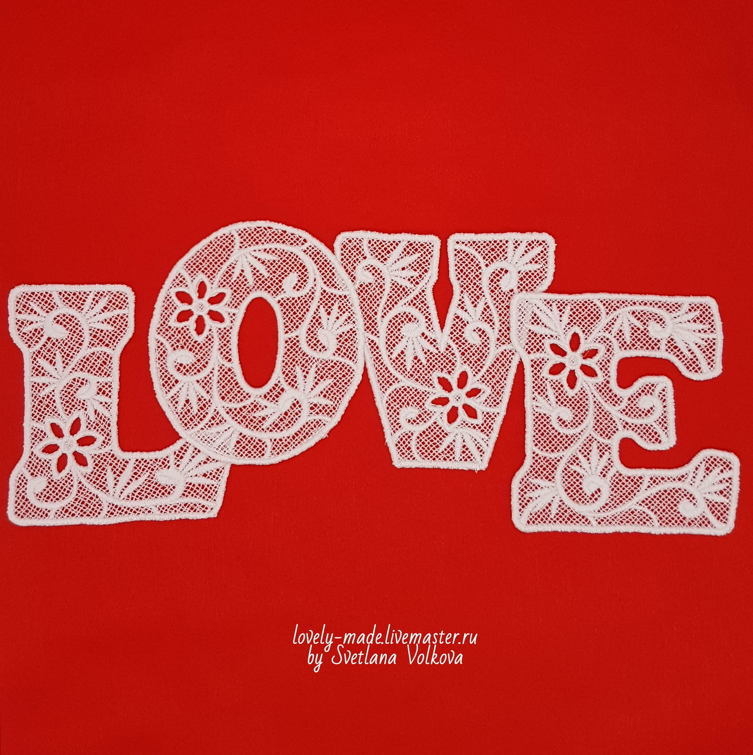 LOVE letters lace white, Volumetric numbers and letters, Chelyabinsk,  Фото №1
