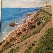 Картины и панно ручной работы. Ярмарка Мастеров - ручная работа Картина ручной работы Море Высокий берег. Handmade.