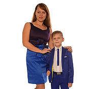Одежда ручной работы. Ярмарка Мастеров - ручная работа Платье и костюм для сына в одном стиле. Handmade.