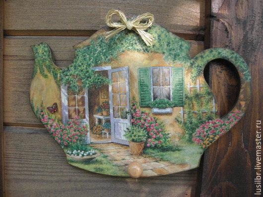 Кухня ручной работы. Ярмарка Мастеров - ручная работа. Купить Панно-вешалка ,,Дом,милый дом,,. Handmade. Зеленый