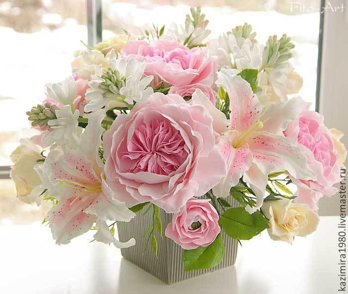 Точка, букет английских роз