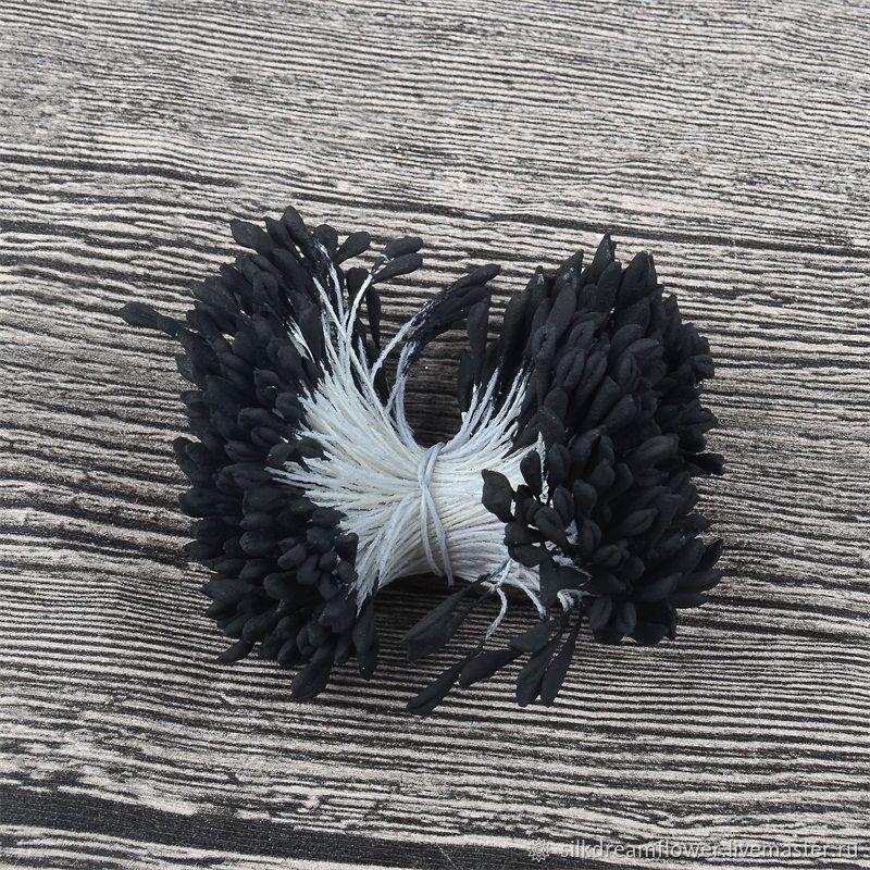 Тройной пучок! Японские тычинки для цветов, черный цвет (600 тычинок), Тычинки, Ижевск,  Фото №1