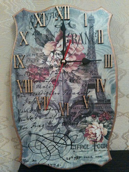 Часы для дома ручной работы. Ярмарка Мастеров - ручная работа. Купить Париж. Handmade. Париж, часы интерьерные, часы роспись