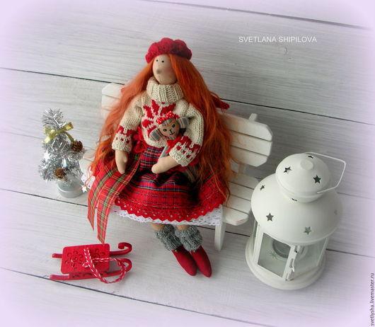 Куклы Тильды ручной работы. Ярмарка Мастеров - ручная работа. Купить Рождественский ангел  Фея Тильда текстильная кукла. Handmade.
