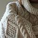 Кофты и свитера ручной работы. Ярмарка Мастеров - ручная работа. Купить Свитер белый с косами и длинным воротом. Handmade.