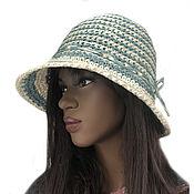 Аксессуары handmade. Livemaster - original item Raffia hat Monica. Handmade.