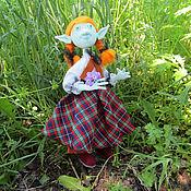 Куклы и игрушки ручной работы. Ярмарка Мастеров - ручная работа Текстильная кукла тролль девочка Лея, сказочный персонаж. Handmade.