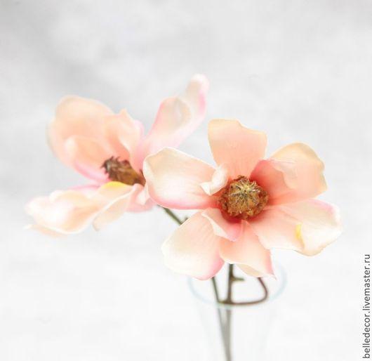 Материалы для флористики ручной работы. Ярмарка Мастеров - ручная работа. Купить Магнолия нежно розовая, 22 см - 6222-20. Handmade.