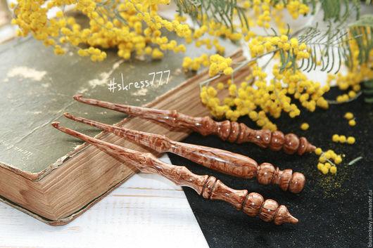 Персональные подарки ручной работы. Ярмарка Мастеров - ручная работа. Купить Крючки из морёной Карельской берёзы, крючок для вязания ручной работы. Handmade.