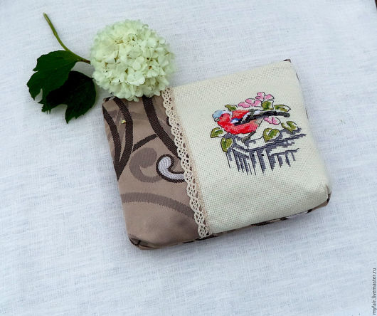 Подарок сестре  купить, косметичка в подарок сестре, подарок для сестры , красивый подарок сестре, сувенир  сестре, косметичка с вышивкой, косметичка купить, полезный подарок для сестры, птица, птицы
