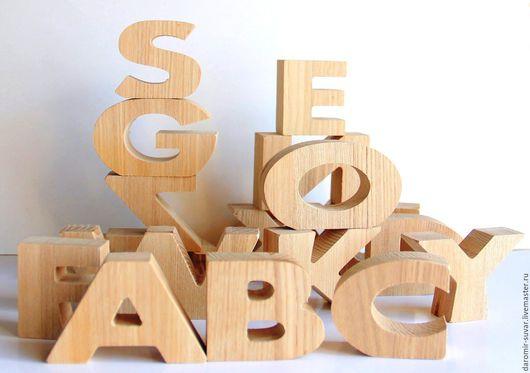 Развивающие игрушки ручной работы. Ярмарка Мастеров - ручная работа. Купить Английский алфавит из дерева. Handmade. Буквы, английский алфавит