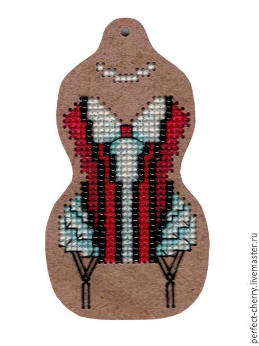 """Вышивка ручной работы. Ярмарка Мастеров - ручная работа. Купить Набор для вышивания подвески из серии """"О-ла-ла!"""" - """"Жанетта"""" ВВ-28. Handmade."""