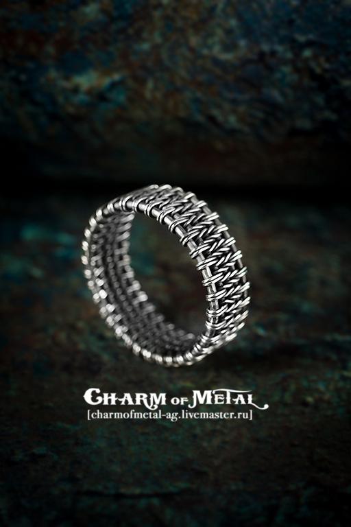 """Украшения для мужчин, ручной работы. Ярмарка Мастеров - ручная работа. Купить """"Norway"""" Серебряное кольцо. Handmade. Украшение, серебро, плетение"""