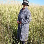 Одежда ручной работы. Ярмарка Мастеров - ручная работа Практичное вязаное осеннее пальто. Handmade.