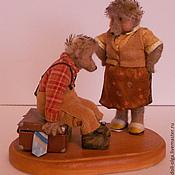"""Куклы и игрушки ручной работы. Ярмарка Мастеров - ручная работа Коллекционная игрушка """"В командировку"""". Handmade."""