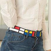 Аксессуары handmade. Livemaster - original item belt-elastic band Mondrian 40 elastic for any clothes. Handmade.